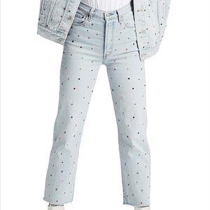 Levi's Ribcage Studded Jeans Size 28